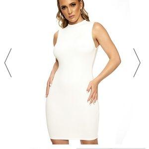 Naked Wardrobe Sleeveless Mini Dress Small White